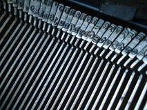 Antike Schreibmaschinen-Metalteile Stockfotos