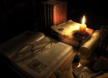 Antike Schreibtisch-noch Lebensdauer lizenzfreies stockfoto