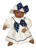 Antike schwarze Puppe stockbilder