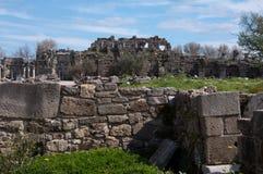 Antike Seite, die Türkei Stockfotos