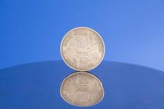 Antike silberne amerikanische Münze Stockbilder