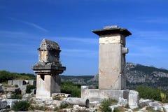 Antike Skulpturen vom lycia Stockfotografie