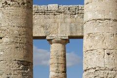 Antike Spalten in Sizilien Lizenzfreies Stockbild