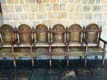 Antike Stühle in Peru Stockbild