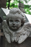 Antike Statue des Engels auf Grab Stockfotografie