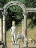 Antike Statue im Landhaus Adriana, Tivoli Rom Lizenzfreies Stockfoto