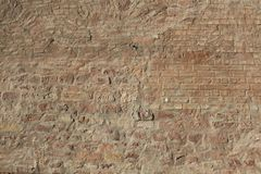 Antike Stein Mauer, Brick wall as background royalty free stock photography