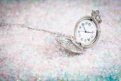 Antike Taschen-Uhr Lizenzfreies Stockfoto