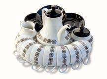Antike Tee-Satz-Anordnung stockfotos