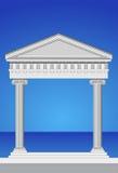 Antike Tempel-Fassade Stockfoto
