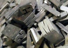 Antike typografische Zeichen Lizenzfreies Stockbild