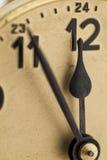 Antike Uhrnahaufnahme Stockfoto