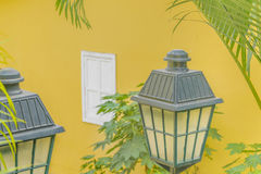 Antike verzierte Lampen in Las Penas Guayaquil Ecuador Lizenzfreie Stockfotos