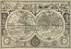 Antike Weltkarte stockbilder