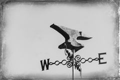Antike Wetterfahne Lizenzfreies Stockfoto