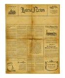Antike Zeitungsschablone Stockbild