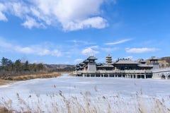 Antikennachahmungsgebäude der chinesischen Art Stockfotos