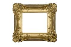 Antiker aufwändiger Goldbilderrahmen Lizenzfreies Stockfoto