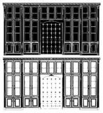 Antiker Bücherregal-Vektor 02 vektor abbildung
