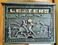 Antiker Briefkasten South Carolina USA der Weinlese stockbild