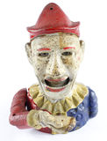 Antiker Clown Hand Money Box Lizenzfreies Stockbild