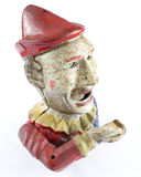 Antiker Clown Hand Money Box Lizenzfreie Stockfotografie