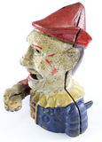Antiker Clown Hand Money Box Lizenzfreie Stockbilder