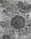 Antiker dekorativer hölzerner Block einmal benutzt für Textildrucken Lizenzfreie Stockfotos