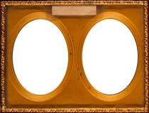 Antiker doppelter Rahmen Stockbilder