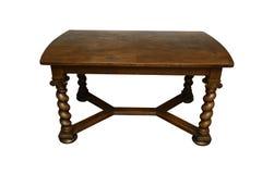 Antiker eichener Tisch mit den verdrehten Beinen Stockfoto
