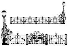 Antiker Gartenzaun Lizenzfreies Stockfoto