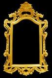 Antiker goldener Rahmen lokalisiert auf schwarzem Hintergrund Lizenzfreie Stockfotos
