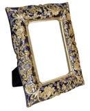 Antiker goldener Rahmen lokalisiert auf weißem Hintergrund lizenzfreie stockbilder