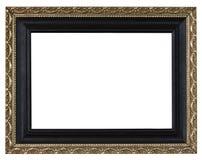 Antiker Goldrahmen auf dem weißen Hintergrund Lizenzfreie Stockbilder