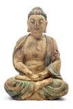 Antiker hölzerner Buddha Lizenzfreie Stockfotografie