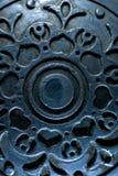 Antiker Hintergrund der Weinlese Metall Lizenzfreies Stockbild