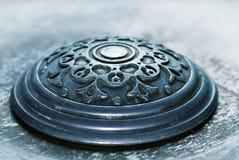Antiker Hintergrund der Weinlese Metall Stockfoto