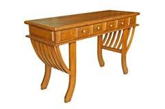 Antiker Holztisch lokalisiert Lizenzfreies Stockbild
