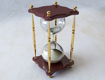 Antiker Hourglass Lizenzfreie Stockfotografie
