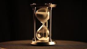 Antiker Hourglass stock footage