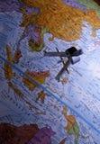 Antiker Kompass auf Karte (südostasiatische Region) Lizenzfreie Stockfotografie