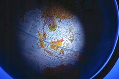 Antiker Kompass auf Karte (südostasiatische Region) Stockfotografie