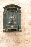 Antiker Metallpostbox Stockbilder
