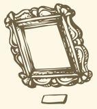 Antiker Rahmen des Vektors lizenzfreie abbildung