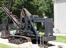 Antiker Rusty Iron Steam Shovel Lizenzfreies Stockfoto