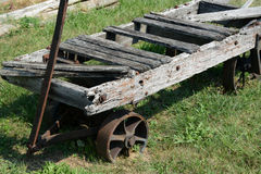 Antiker Transportwagen stockbilder