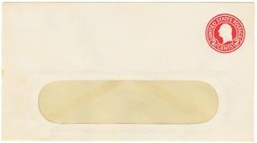 Antiker Umschlag mit einem 2-Cent-Porto Stockfotos
