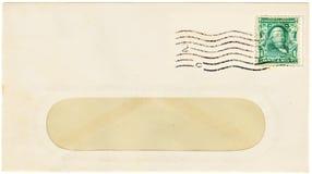 Antiker Umschlag mit einem 2-Cent-Porto Lizenzfreie Stockfotografie