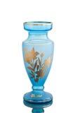 Antiker Vase - geschliffenes Glas - auf weißem Hintergrund stockbilder