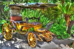 Antiker Wagen in Bali-Zoo Stockfotografie